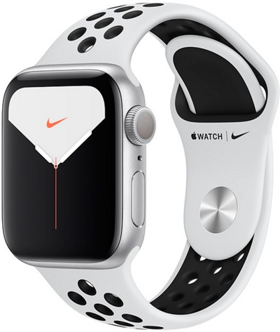 Смарт-часы Apple Watch Nike Series 5 40mm Aluminum Silver (MX3R2) — фото