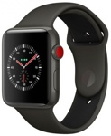 Смарт-часы Apple Watch Series 3 LTE 42mm Gray Ceramic Case with Gray/Black Sport Band (MQM62)