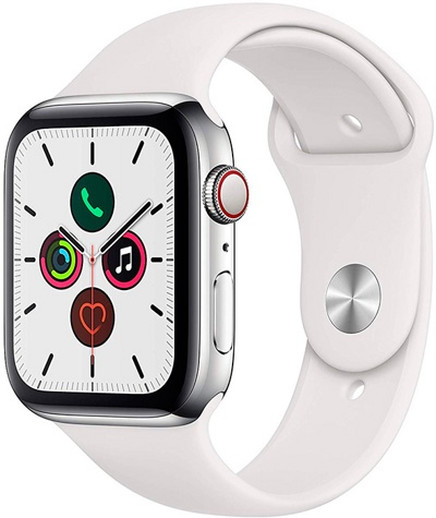 Смарт-часы Apple Watch Series 5 LTE 44mm Stainless Steel Silver (MWWF2) — фото
