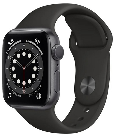 Смарт-часы Apple Watch Series 6 44mm Aluminum Space Gray (M00H3)  — фото