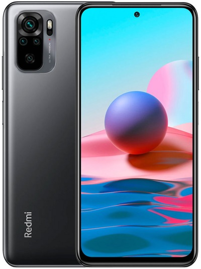 Смартфон Redmi Note 10 4Gb/128Gb Gray (Global Version)  — фото